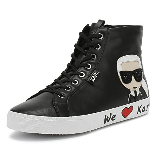 Karl Lagerfeld Skool Karl Ikonic Hi Lace Schwarz Damen Sneakers-UK 5