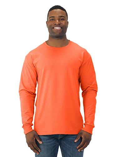 Jerzees Camiseta masculina de manga longa, Safety Orange, Medium