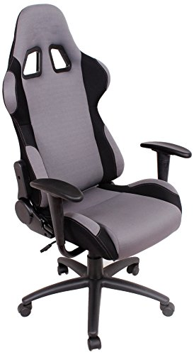 EZ Lounge Racing Car Seat Office Jeep Gaming Chair Gray/Black
