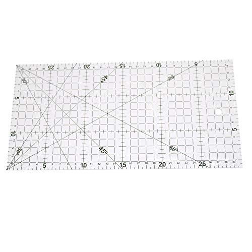 BouBou 1 pieza 30x15cm acrílico Patchwork regla alineada regla de dibujo transparente Oficina y escuela suministros de medición de costura