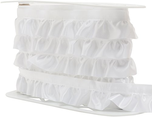 "Wright Products Simplicity Ruffled Quilt Binding 1-7/8""X8yd, White"