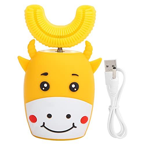 Cepillo de dientes automático de silicona en forma de U, cepillo de dientes eléctrico Ipx7 impermeable para niños, protege las encías y reduce las enfermedades periodontales Tipo U Cepillo de dientes