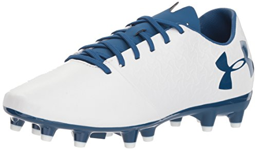Under Armour Women's Magnetico Select Firm Ground Soccer Shoe, White/Moroccan Blue