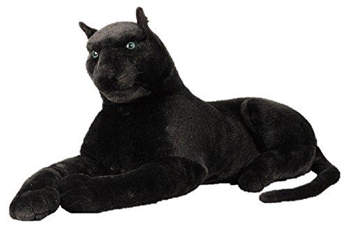 Schwarzer Panther XXL Plüschtier 110 cm Kuscheltier Softtier Raubkatze Stofftier