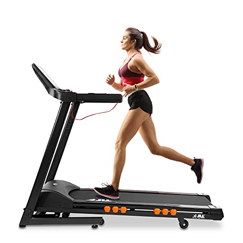 JLL T350 Digital Folding Treadmill, 2021 New Generation Digital Control 4.5HP Motor, 20 Incline Levels,0.3km/h to 18km/h, 20 Programmes, Bluetooth & Speakers, 2-Year Parts&Labor,5-Year Motor Cover