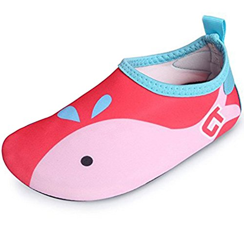 SITAILE Aquaschuhe Barfuß Schuhe Schwimmschuhe Badeschuhe Wasserschuhe Surfschuhe Sportschuhe für Kinder Rot EU 26-27