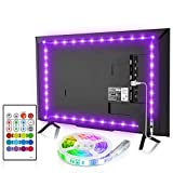 TV Backlight, 8.2ft TV Light Strip for 32-58 inch TV/Monitor Backlight, SMD 5050 USB LED Light Strip with Remote, RGB 4096 DIY Colors TV LED for Gaming Lights, Ambient Lighting Kit.