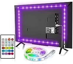 TV Backlight, 8.2ft TV Light Strip for 32-58 inch TV/Monitor Backlight, SMD 5050 USB LED Light Strip with Remote, RGB 4096 DIY Colors TV LED for Gaming Lights, Ambient Lighting Kit.