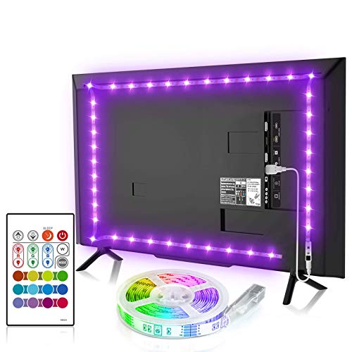 BASON USB LED TV Bias Lighting for 55 Inches, LED Strip for Back of Tv Lighting Home Movie Theater Decor