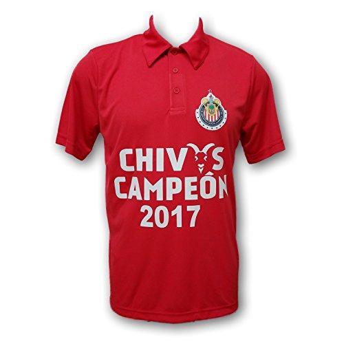 Chivas del Guadalajara Red Men's Polo Shirt (Large, Chivas 02)