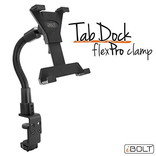 """iBolt tabdock Flexpro clamp- Heavy Duty sargento Mount para Todas las Tabletas de 7 \""""a 10 (iPad, Nexus, Samsung Galaxy Tab) para escritorios, tablas, sillas de ruedas, carros, etc."""