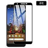 【2枚入り】Google Pixel 3a XL ガラスフィルム AnnTec 3D 全面保護 高透過率 硬度9H 指紋防止 飛散防止 気泡ゼロ Google Pixel 3a XL 液晶保護フィルム