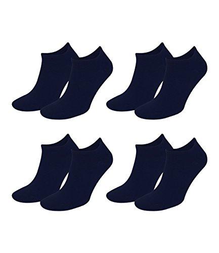 Juego de 4 pares de calcetines para hombre de Tommy Hilfiger, ejecutivos informales para zapatillas deportivas azul marino 43-46