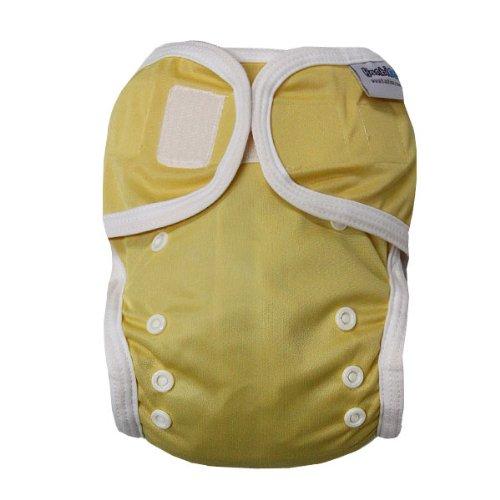 Bambinex Wrap - Die mitwachsende Überhose - Easy On / Easy Off - für Stoffwindeln z.B. Bambinex, Popolini, Mullwindeln, Bindewindel etc. / OneSize 3-15kg, gelb