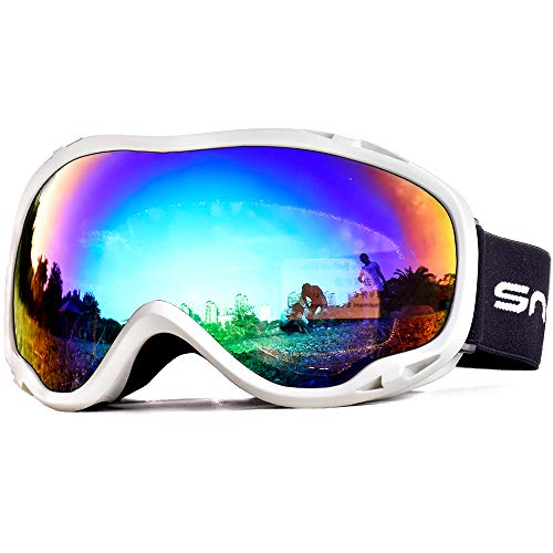 HUBO SPORTS Ski Snow Goggles for Men Women Adult,OTG Snowboard Goggles of Dual Lens with Anti Fog...