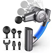 Massage Gun, RENPHO Muscle Massage Gun Deep Tissue with Adjustable Arm and 6 Massage Head, Percussion Handheld Electric Muscle Massager Lightweight Portable for Muscle Tension Relief