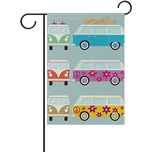 KDU Fashion Yard Flags,Retro Van Busse Decoratieve dubbelzijdige Garden Vlag 32 * 48Cm