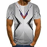 Zzfklj Camiseta de manga corta con impresión 3D, cuello redondo, diseño único, unisex, para verano, manga corta, divertida T16 XXXXL