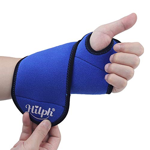 """Hilph® Wrist Ice Pack Wrap for Carpal Tunnel and Hand Pain Reliel, Reusable Gel Pack for Hot/Cold Therapy, Rheumatoid Arthritis, Tendinitis-9.8""""X3.7"""""""