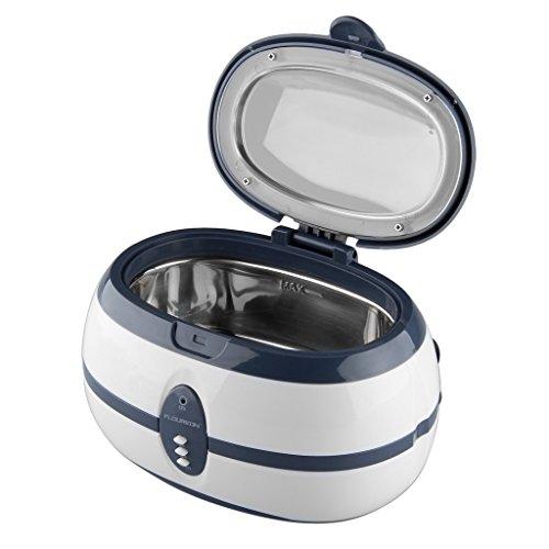 600ml Ultraschallreinigungsgerät Ultraschallgerät Ultraschallreiniger Ultraschallbad 40.000 Hz Reinigungsgerät Heitzung für Schmuck Brille Uhren Zahnprothesen usw.