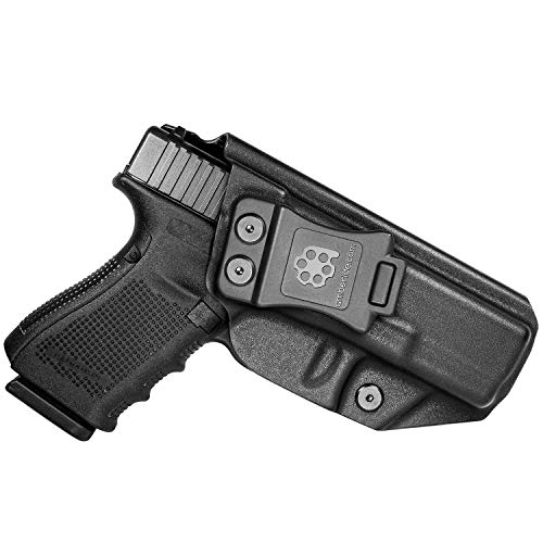 Amberide IWB KYDEX Holster Fit: Glock 19 19X 23 32 45 (Gen 1-5) Pistol | Inside Waistband | Adjustable Cant | US KYDEX Made (Black, Right Hand Draw (IWB))