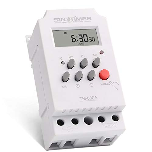 Heaviesk Timer Switch 12V 30A Semanal 7 días Interruptor de tiempo digital...