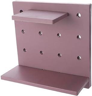 PINKING 浴室ラック 粘着式 壁掛けラック バス収納ラック 浴室収納ラック 組み立て簡単 お風呂 洗面所 キッチン収納 小物収納 パープル
