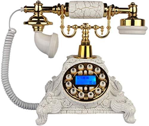 AWAING Telefonos Antiguos Vintage Teléfono nostálgico Vintage con botón pulsador con cordón de Tela y Tono de Timbre auténtico