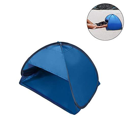 N/Y Tienda de Playa emergente, Sombra de Cabeza de Playa Personal portátil Protección UV Mini toldo de protección Solar con Bolsa para teléfono móvil, 80x50x55 cm