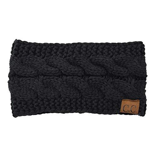 Nwarmsouth Wollgestrickte Mütze mit doppeltem, gestricktem Wollstirnband, Herbst- und Winterdamen-Leeroberteil-9, Wintermütze mit lässiger Strickmütze