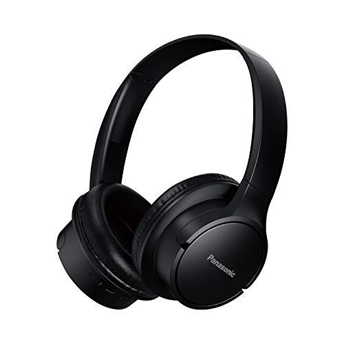 Panasonic Auriculares Bluetooth RB-HF520BE-K (Over-Ear, Quick Charge, hasta 50 Horas de duración de la batería, Auriculares Ligeros, Control por Voz), Color Negro