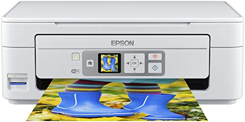 Epson Expression Home XP-355 3-in-1 Tintenstrahl-Multifunktionsgerät Drucker (Scanner, Kopierer, WiFi, 3,7 cm Display, Einzelpatronen, 4 Farben, DIN A4, Amazon Dash Replenishment-fähig) weiß