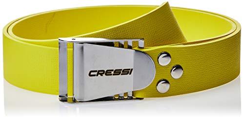 Cressi Unisex Tauchen Bleigürtel, Gelb/Silber, 140 cm