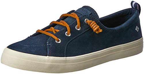 Price comparison product image Sperry Womens Crest Vibe Washable Leather Sneaker,  Navy,  5