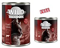 Wild Freedom Farmlands - Beef & Chicken 6 x 400g Tender beef combined with delicious chicken for a tasty, easy to digest meal Premium, complete wet cat food inspired by your cat's natural instincts. It provides your cat with a delicious, species-appr...