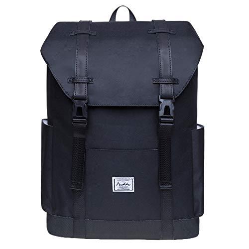 KAUKKO Rucksack Damen Herren Schule & Freizeit Moderner Tagesrucksack aus Polyester für Uni Büro - Daypack für 14