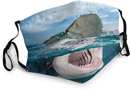 Shark s Smile Teeth Face Mask Reusable Bandana Face Mask Windproof Face Decoration Anti Dust product image