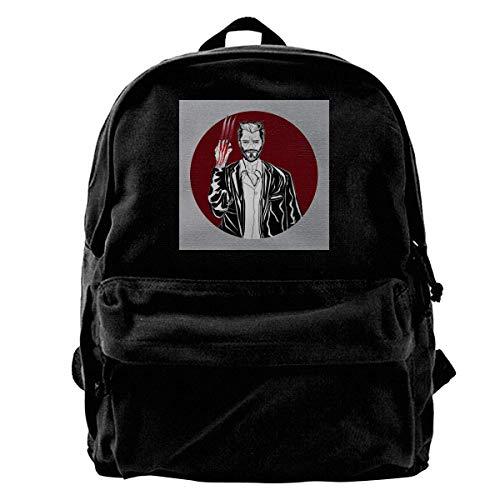 Bookbag WOL-Verine Old Man Logan Canvas Backpack Anime School Birthday Durable Book Print Daypack Unique Shoulder Bag Adult Gift Student College Bag Portable TravelT