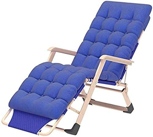 Home Recliners Chairs Sun Lounger Leisure with Pillows Reclining Garden Sun Lounger Portable with Thick Cotton Pad Folding Bed Recliner Double Oxford Cloth Deck Lounger (Color Portable