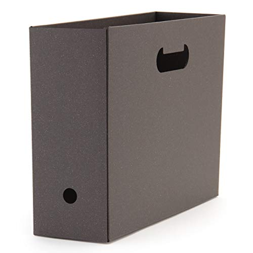 無印良品 ワンタッチで組み立てられるダンボールファイルボックス5枚組 A4用・ダークグレー 38708643