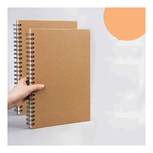 HJHJ Cuadernos Bosquejo del Libro-Cuaderno Espiral Diario 2-Pack, En Blanco Libro del Bosquejo del cojín, con Espiral de Notas Bloc de Notas planificador Diario Notebook, 7.4'x 10.2' blocs de Notas