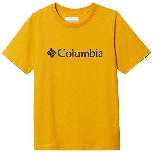 Columbia CSC Basic Logo - Camiseta de Manga Corta Unisex, Unisex Adulto, 1877491, Oro Brillante, Extra-Large