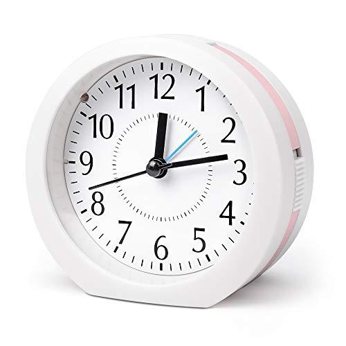 目覚まし時計 置き時計 15曲メロディ 卓上時計 連続秒針 クロック アナログ式 クオーツ シンプル 大音量 おしゃれ 静か スヌーズ 電池式 音楽 簡潔…