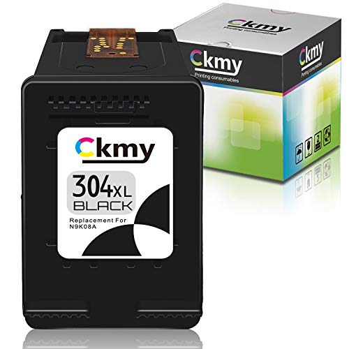 CKMY Remanufactured for HP 304 XL 304XL Cartucho de Tinta (1 Negro) per HP Envy 5010 5020 5030 5032 Deskjet 2620 2622 2630 2632 2633 2634 3720 3730 3733 3735 3750 3760 3762 3764