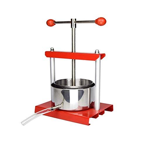 N / E Edelstahl-Handpresse, Fruchtweinpresse, 2-Liter-Kugelgriff, für Saft, Kräutersaft, Apfelwein, Wein, Olivenölherstellung