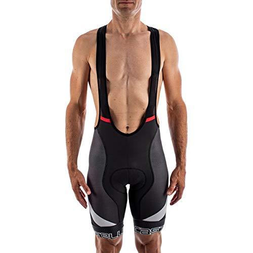 CASTELLI Competizione Kit Bibshort - Pantalones Cortos para Hombre Gris Oscuro y Gris Plateado XL