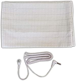 Earthing Pillow Case King - Conductive Pillow Case with Coiled Cable King Size Pillow
