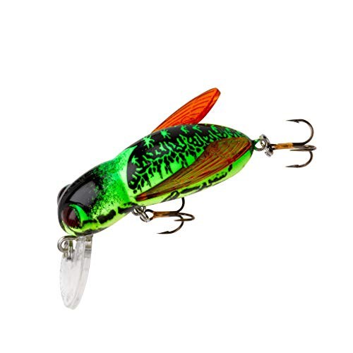 Rebel Lures Classic Critters Crankbait Fishing Lures 4-Pack Includes 1 Teeny Pop-R One Size and 1 Teen Wee-R 1 Teeny Wee Crawfish Multi 1 Crickhopper