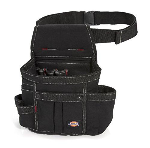 Dickies 8-Pocket Tool Belt/Utility Pouch, Adjustable 2-Inch Belt, Durable Canvas Construction, Puncture-Resistant Liner, Black