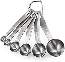 Measuring Spoons: U-Taste 18/8 Stainless Steel Measuring Spoons Set of 6 Piece: 1/8 tsp, 1/4 tsp, 1/2 tsp, 1 tsp, 1/2...